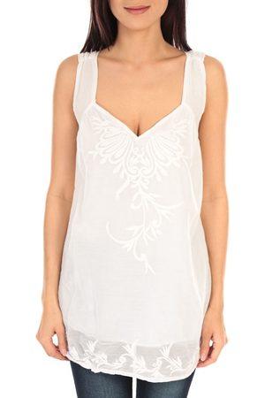 Vision De Reve Camiseta tirantes vision de rêve débardeur SC9020 blanc para mujer