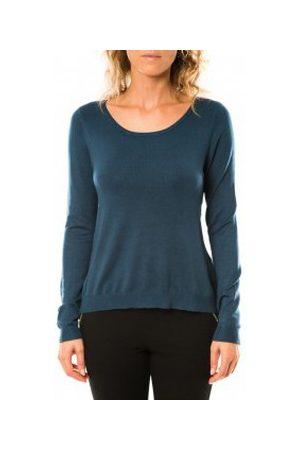 Vero Moda Jersey Glory Eve LS Zipper Blouse 10114841 Marine para mujer