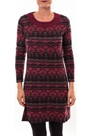 Barcelona Moda Túnica Robe pull 71565011 bordeaux para mujer