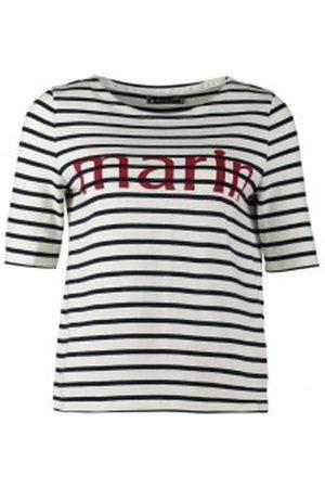 Petit Bateau Mujer Camisetas y Tops - Camiseta Tee-shirt Marinière 1078949240 Blanc para mujer