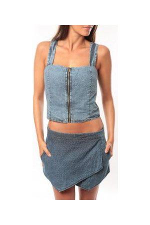 Dress Code Camiseta tirantes Bustier Saxx Bleu para mujer