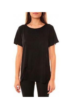 Coquelicot Camiseta T-shirt CQTW14311 Noir para mujer