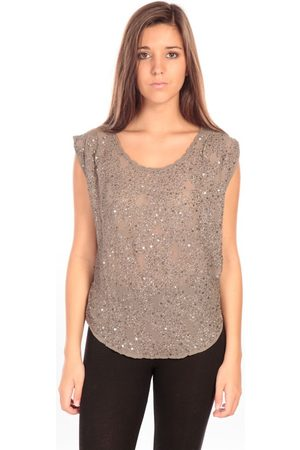 CHARLIE JOE Camiseta tirantes Top Pearl Marron para mujer