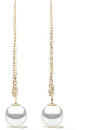 Yoko London Pendientes Novus en oro amarillo de 18kt con diamante y perla de mar del Sur