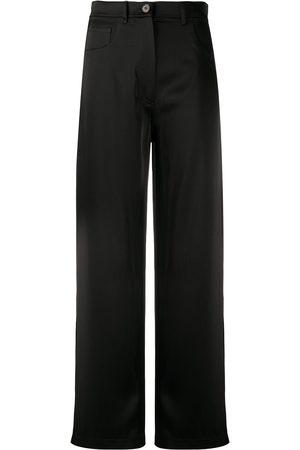 Nanushka Pantalones anchos de talle alto