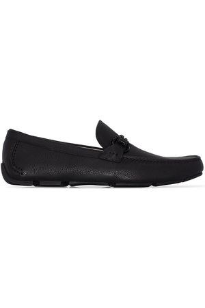 Salvatore Ferragamo Black Front 4 leather loafers