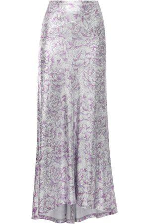 Paco rabanne   Mujer Falda Larga De Viscosa Con Estampado Floral /púrpura 34