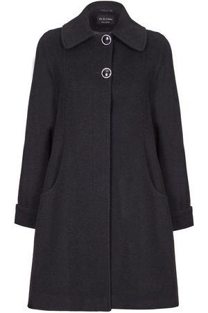 De la creme Abrigo Abrigo de invierno de cachemir de lana columpio para mujer