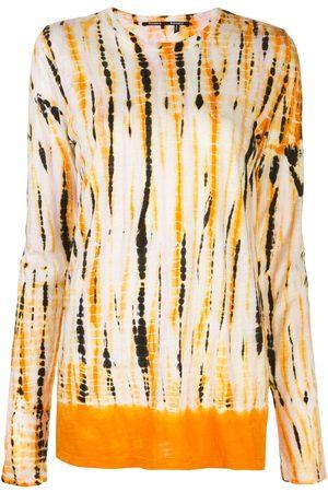 Proenza Schouler Camiseta de manga larga con estampado tie-dye