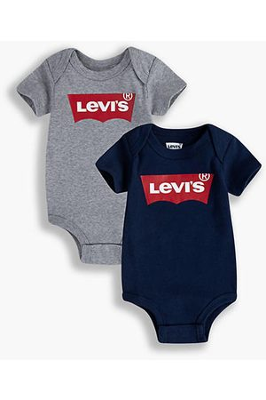 Levi's 2 Pack Batwing Bodysuit / Grey Heather