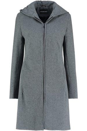 De la creme Abrigo Abrigo de invierno con capucha de lana de cachemira para mujer