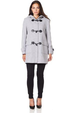 De la creme Abrigo Bata de invierno de cachemir con capucha de lana para mujer