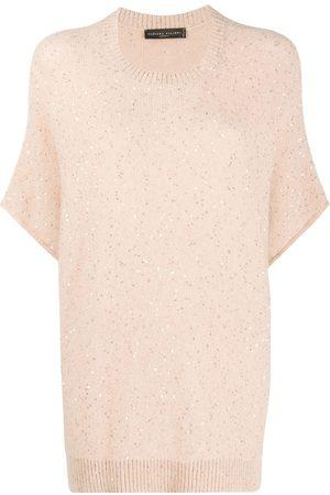 Fabiana Filippi Jersey bordado con manga corta