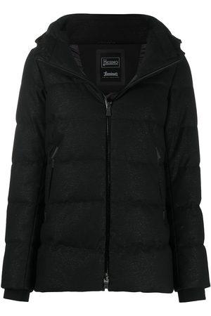HERNO Metallic-effect puffer jacket