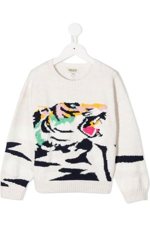 Kenzo Tiger-print knitted jumper