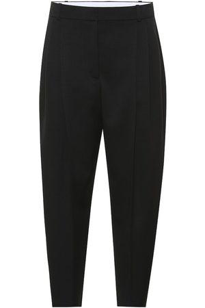 Stella McCartney Pantalones de lana de tiro alto