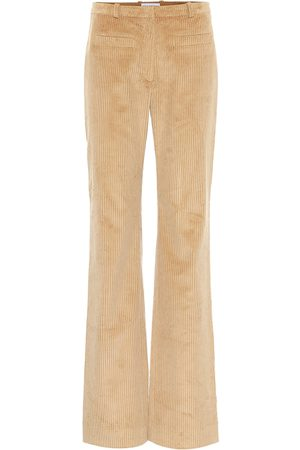 Paco rabanne Pantalones de pana de tiro alto