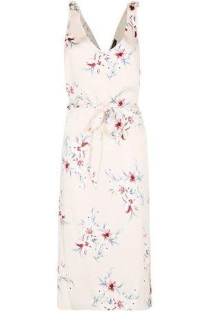 Anastasia Vestido largo Vestido de satén floral para mujer