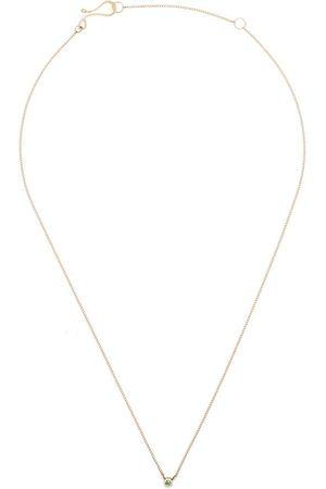 MELISSA JOY MANNING 14kt yellow gold emerald necklace
