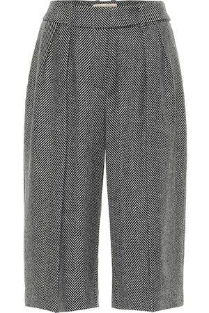 ALEXANDRE VAUTHIER Culottes de lana en espiguilla