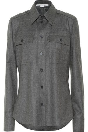 Stella McCartney Camisa en mezcla de lana