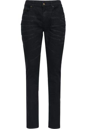 Saint Laurent | Hombre Jeans Skinny De Denim De Algodón Stretch 16cm /plata 34