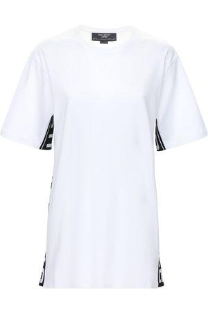 Stella McCartney | Mujer Camiseta De Algodón Orgánico Con Logo /negro Xxs