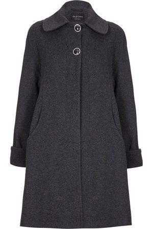 De la creme Mujer Abrigos largos - Abrigo Abrigo de invierno de cachemir de lana columpio para mujer
