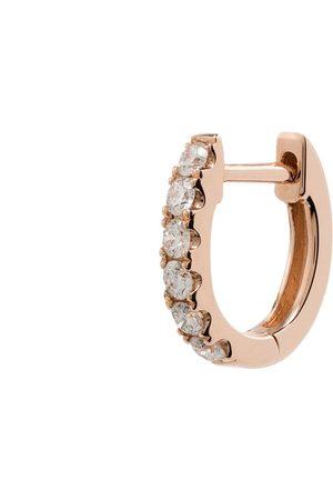 Roxanne First Mujer Pendientes - Aro mini en oro rosa de 14kt con diamantes