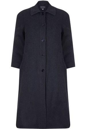 David Barry Abrigo Abrigo de invierno de lana cruzado de invierno para mujer