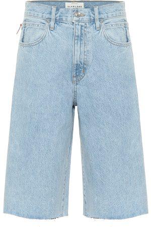 SLVRLAKE Bermudas de jeans de tiro alto
