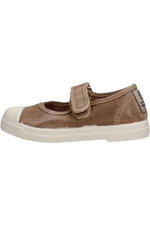 Natural World Zapatillas de tenis - Scarpa velcro beige 476E-621 para niña