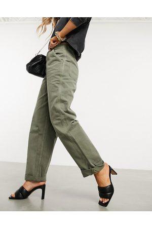 ASOS Mujer Pantalones chinos - Pantalones chinos holgados en caqui de -Verde