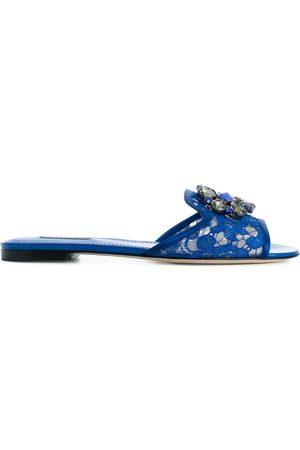 Dolce & Gabbana Sandalias con detalle Bianca