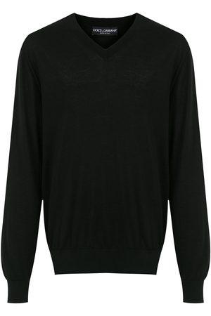 Dolce & Gabbana Hombre Jerséis y suéteres - Jersey con cuello en V de cachemira