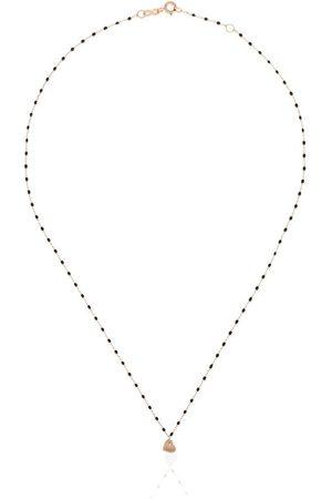 GIGI CLOZEAU Collar con charm Heart en oro amarillo de 18kt con cuentas