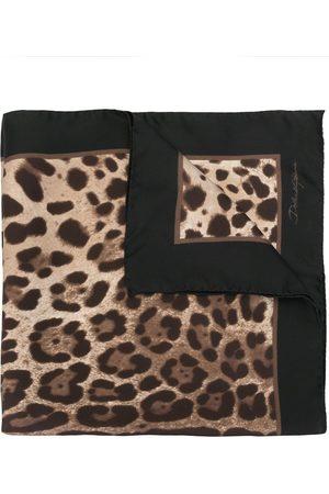 Dolce & Gabbana Pañuelo con estampado de leopardo