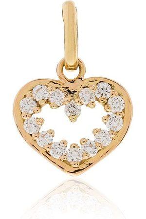GIGI CLOZEAU Colgante con diseño de corazón en oro amarillo de 18kt con diamantes
