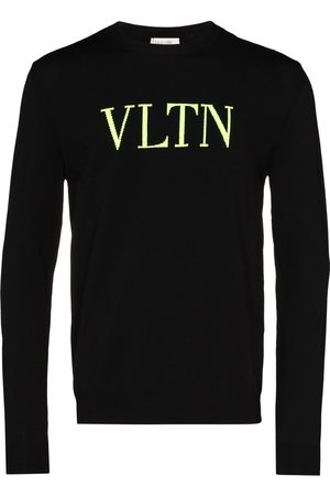VALENTINO Jersey de punto con logo fluorescente