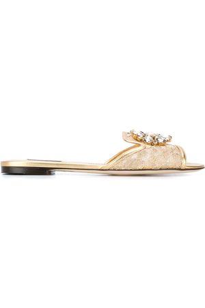 Dolce & Gabbana Zapatos slippers de encaje Bianca