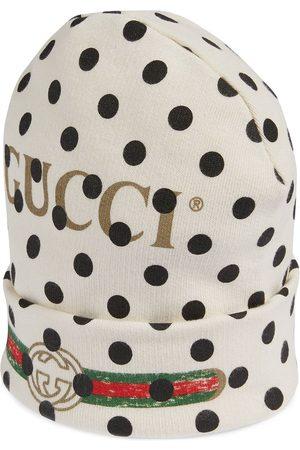 Gucci Gorro de punto fino con logo