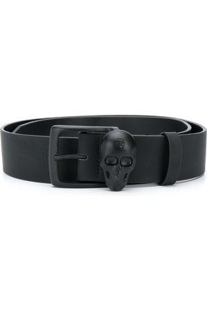 Philipp Plein Hombre Cinturones - Cinturón con hebilla de calavera