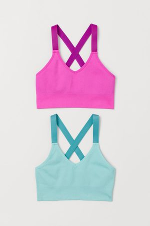 H&M Pack 2 tops deporte seamless