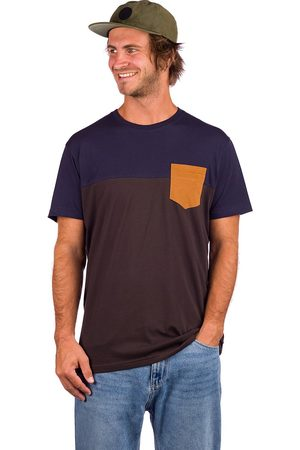 Iriedaily Hombre Manga corta - Block Pocket T-Shirt marrón