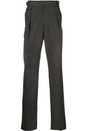 Alexander McQueen Pantalones rectos con cierre oculto