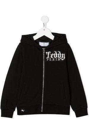 Philipp Plein Stud-embellished logo hoodie