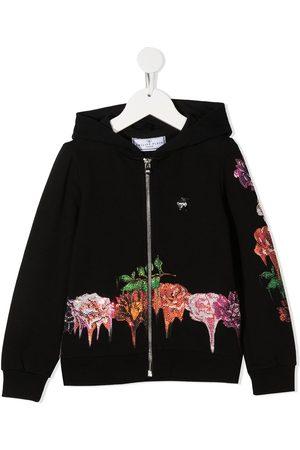 Philipp Plein Rose embellished zip hoodie