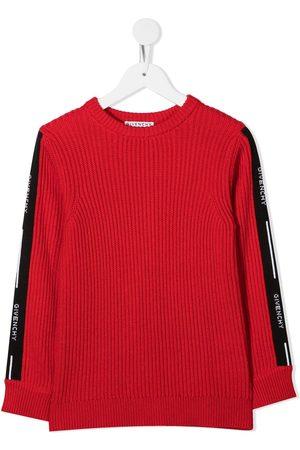 Givenchy Logo stripe ribbed jumper