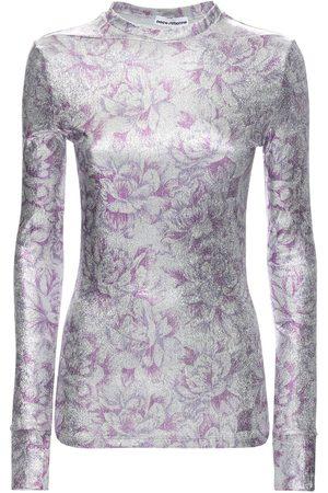 Paco rabanne | Mujer Top De Mezcla De Viscosa Estampado Floral /púrpura 34