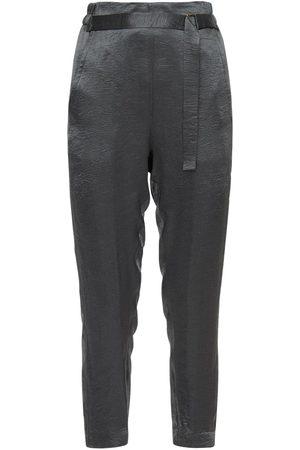 ANN DEMEULEMEESTER | Mujer Pantalones Militares De Satén 34